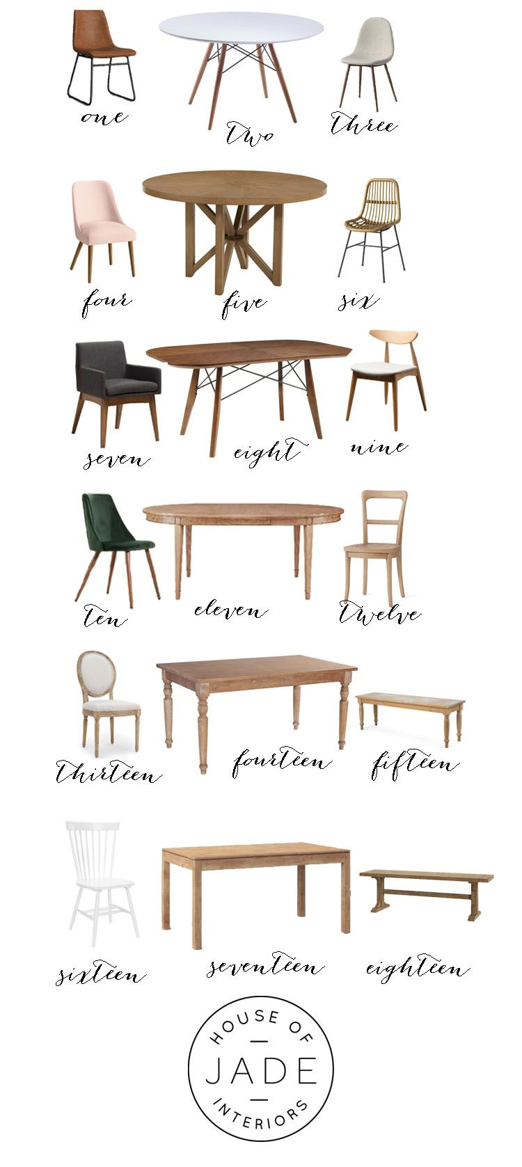 Affordable Dining Chair And Table Round Up Pairings House Of Jade Interiors Blog Affordable Dining Dining Chairs Dining Room Console Table Affordable dining room tables