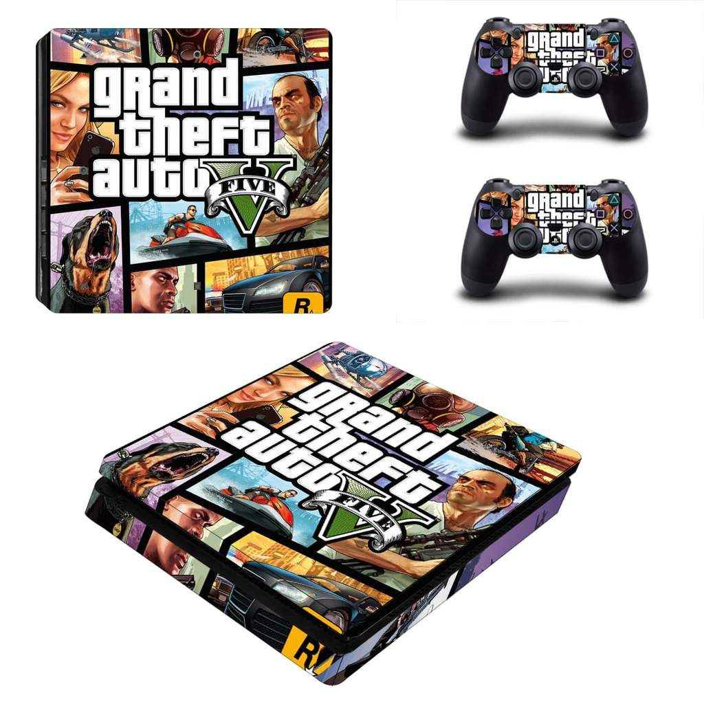 Grand Theft Auto V Man With Gas Mask Syndicates PS4 Slim