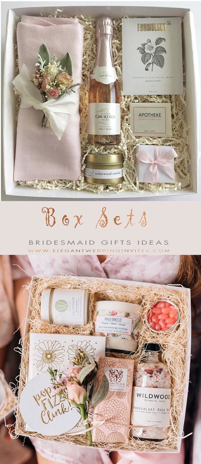 The 10 Best Bridesmaid Gifts Ideas Bridesmaid gift boxes