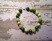 Green Bay Packers Inspired Chunky Bead Necklace