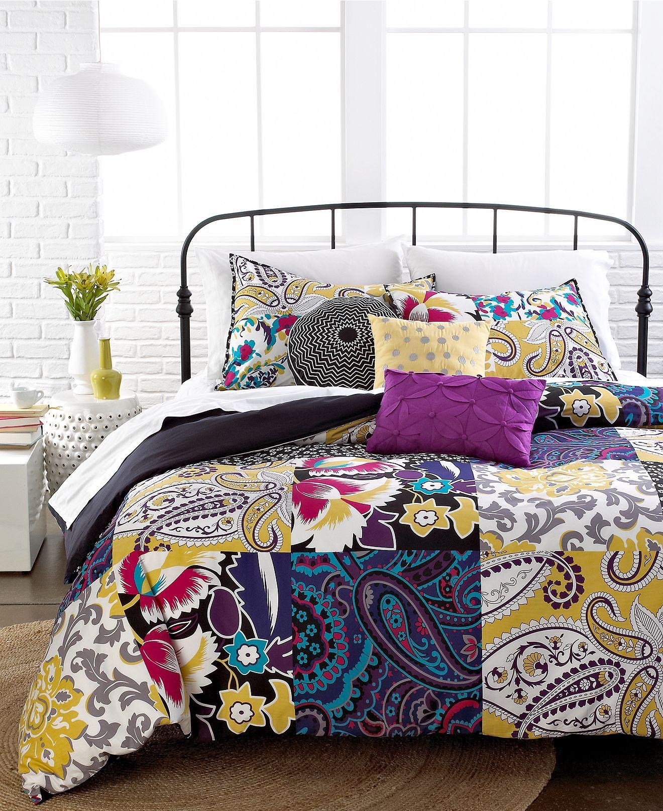 Sunshine Patchwork 3 Piece Duvet Cover Sets Duvet Covers Bed