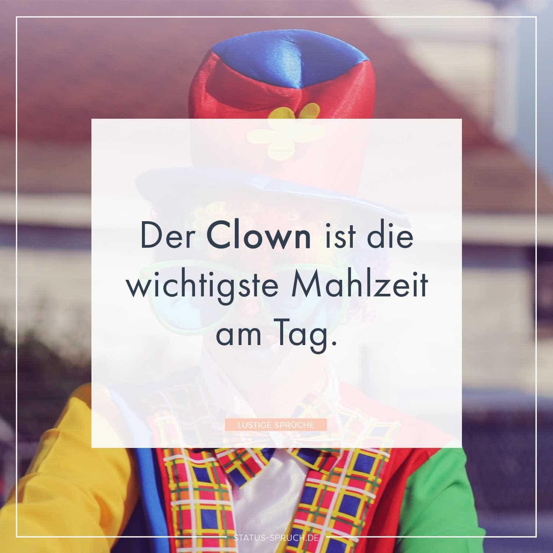 Der Clown Ist Die Wichtigste Mahlzeit Am Tag Es Der Clown