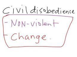 Resultado de imagem para desobediencia civil cartazes