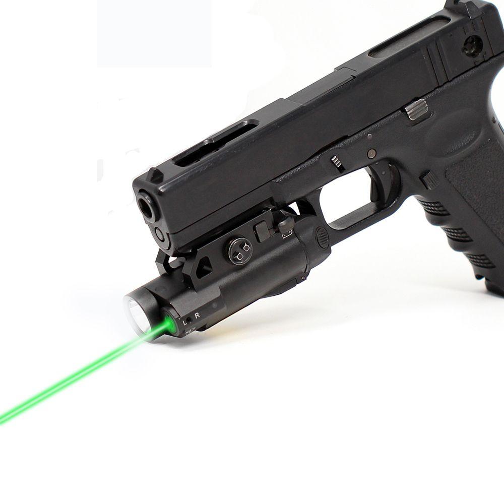 Tactical Intelligent Green Laser Flashlight Combo Sight For Beretta
