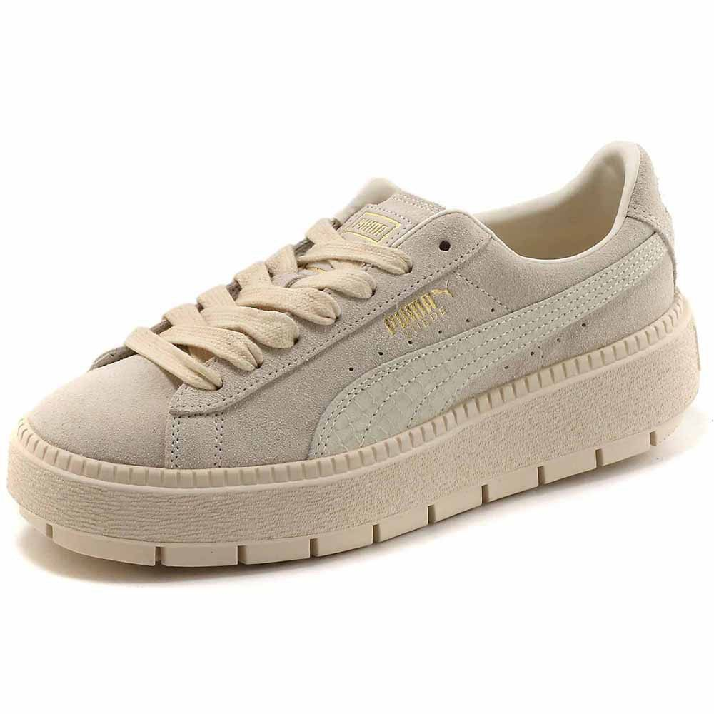 Puma select Suede Platform Trace Animal Beige, Dressinn ...