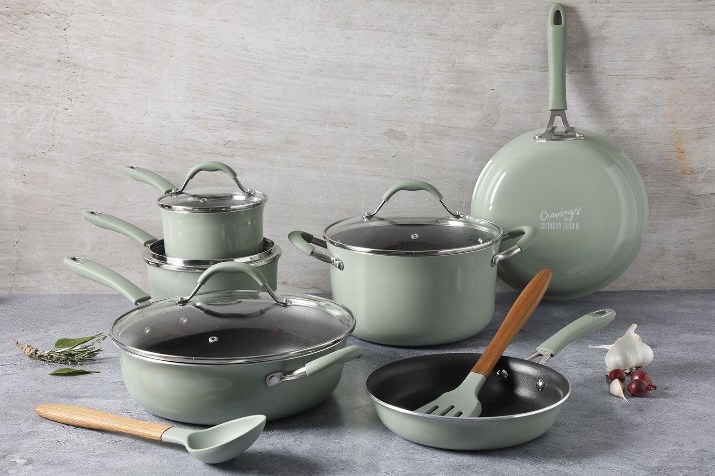 The Cravings By Chrissy Teigen 12 Pc Nonstick Aluminum Cookware