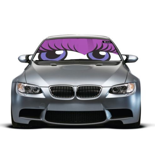 Cute Flirty Eyes Auto Car Sun Shade Windshield Heat