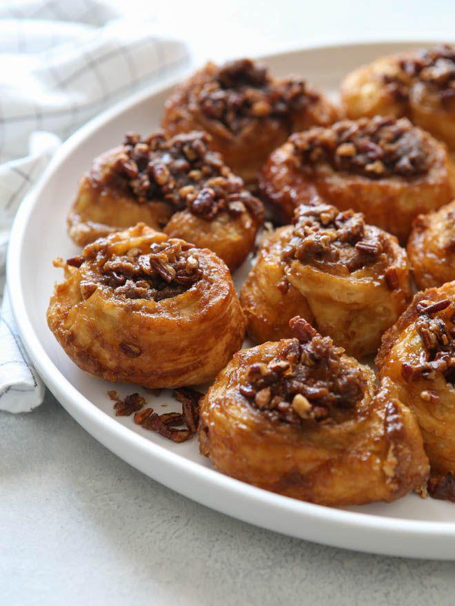 Easy Puff Pastry Sticky Buns #stickybuns
