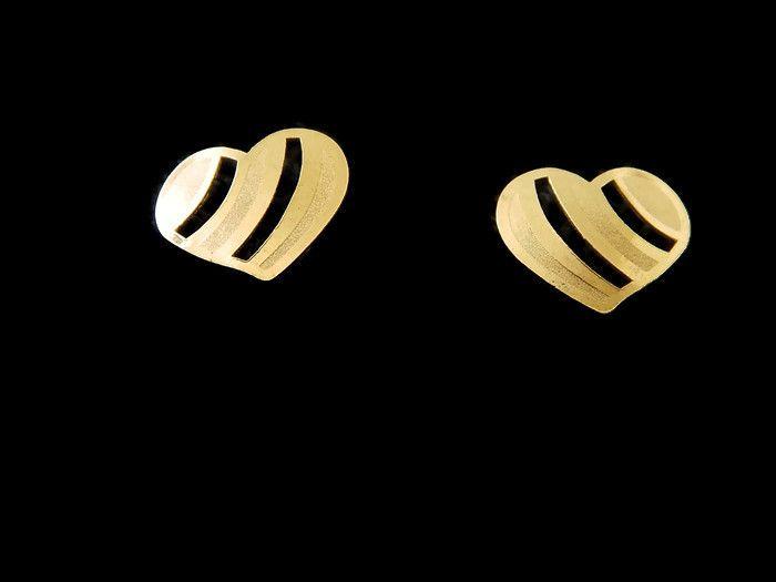 BDOL -CC Broquel de corazon  en Oro laminado, medida broquel 10mm, precio x par $35 c/u , precio medio mayoreo (3 pares)$34 c/u, precio mayoreo (6 pares)$32 c/u, precio VIP(12 pares) $30 pesos c/u