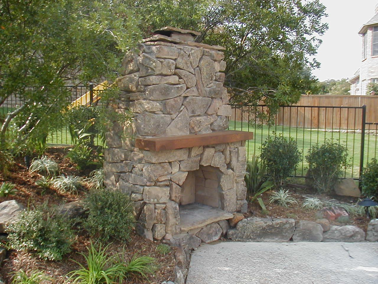 Garden Fireplace Design Plans Outdoor Living Designs On A Small Budget  Custom Outdoor .