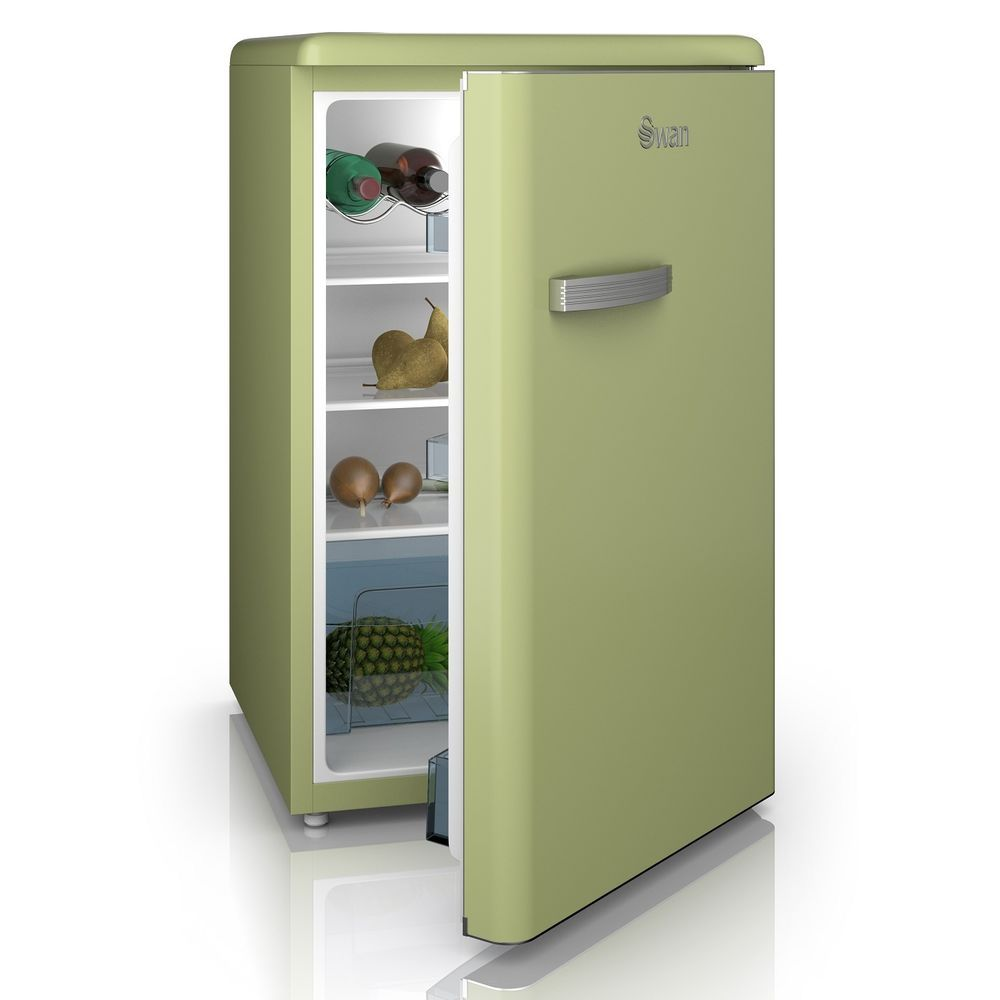 Swan Vintage Retro 87 3cm Tall Under Counter Freestanding Larder Fridge Green Larder Fridge Under Counter Fridge Home Goods Store