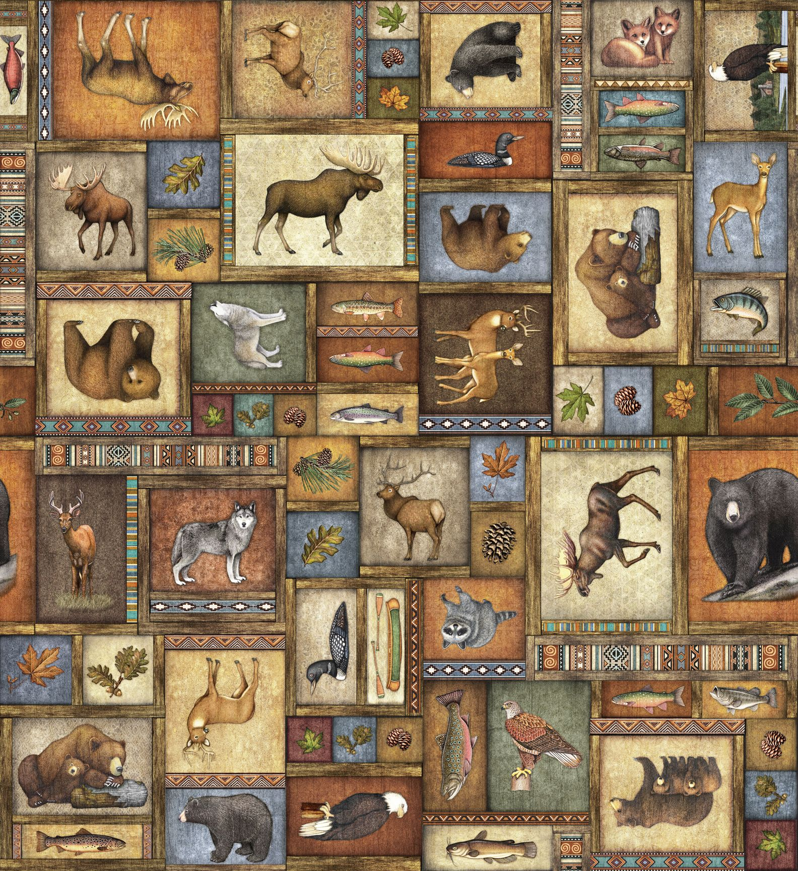 A Menagerie Of Beautiful Wildlife With Southwestern Styling