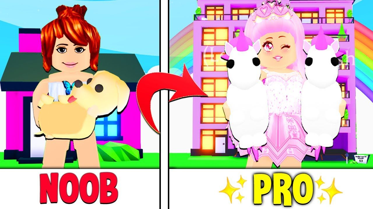 How She Went From NOOB To PRO OVERNIGHT In Adopt Me... A