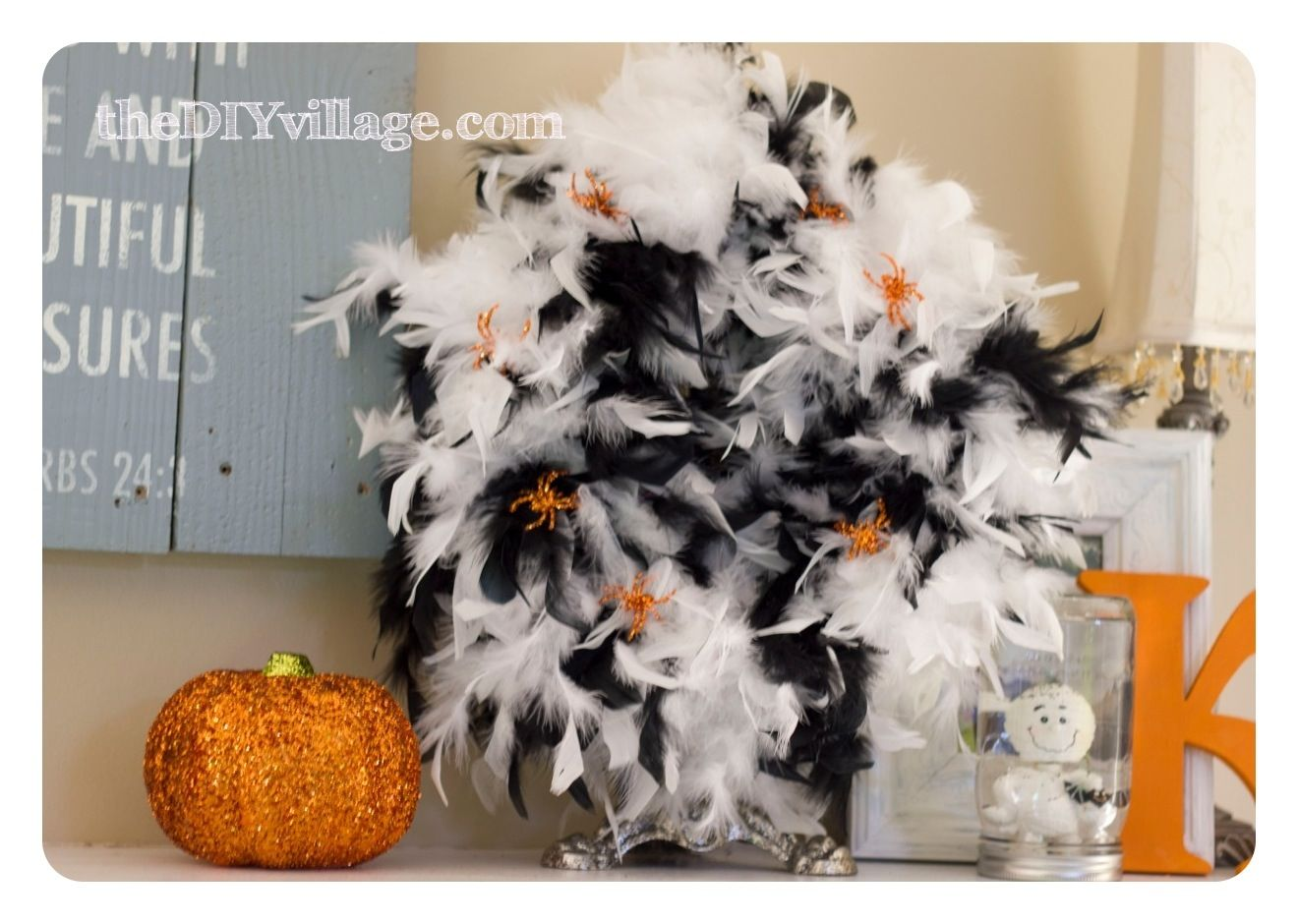 Easy Halloween Wreath  Pumpkins Wreaths, Easy halloween and - Do It Yourself Halloween Decorations