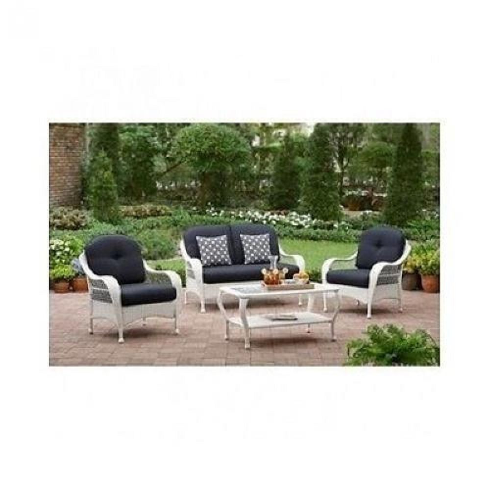Furniture garden set pc patio deck outdoor rattan wicker chair