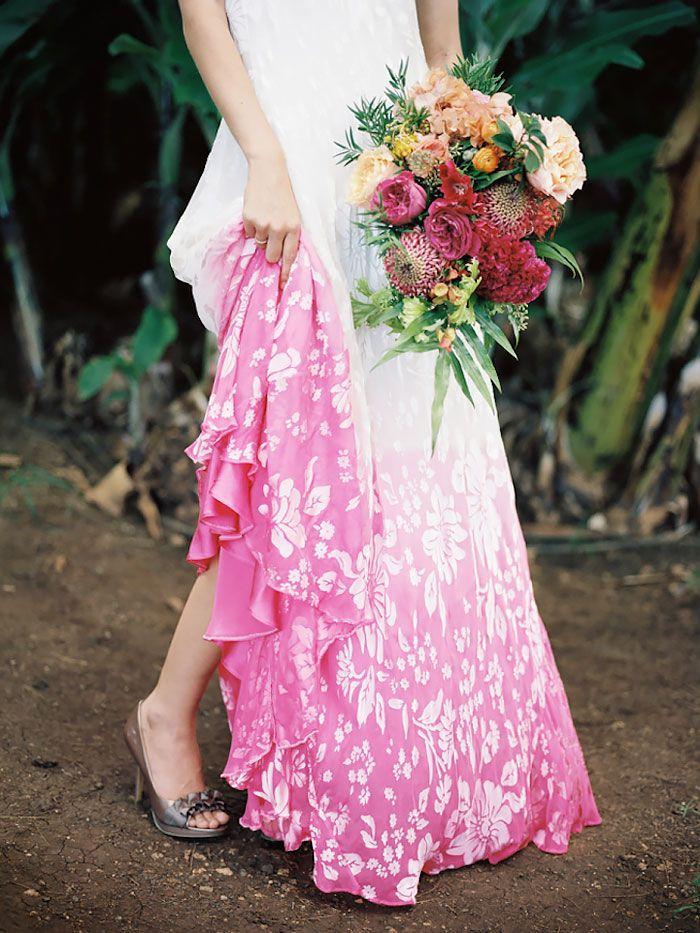 Nouvelle mode colorer le bas de sa robe pour gayer son for Bas les robes de mariage arkansas