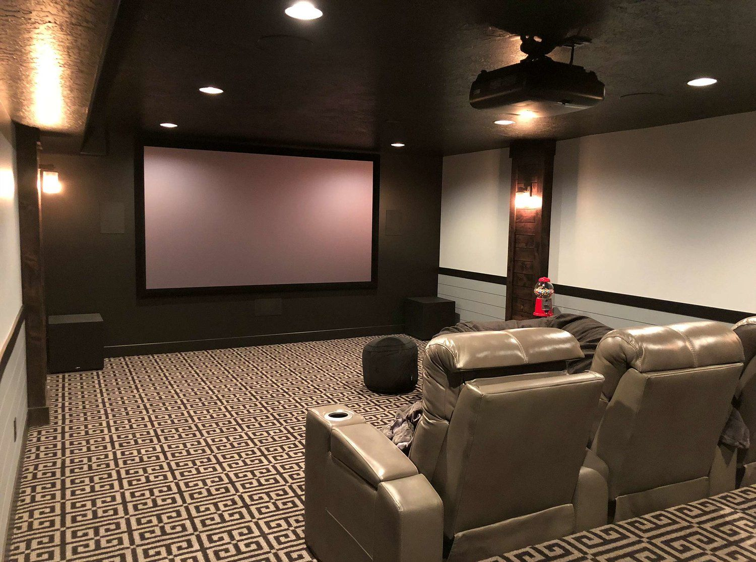 Theater Room In Basement Finished By Hope Custom Building In