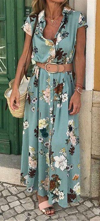Photo of Camicia Colletto Abiti da donna Shift Daily Cotton-Blend Abiti floreali herhershoes