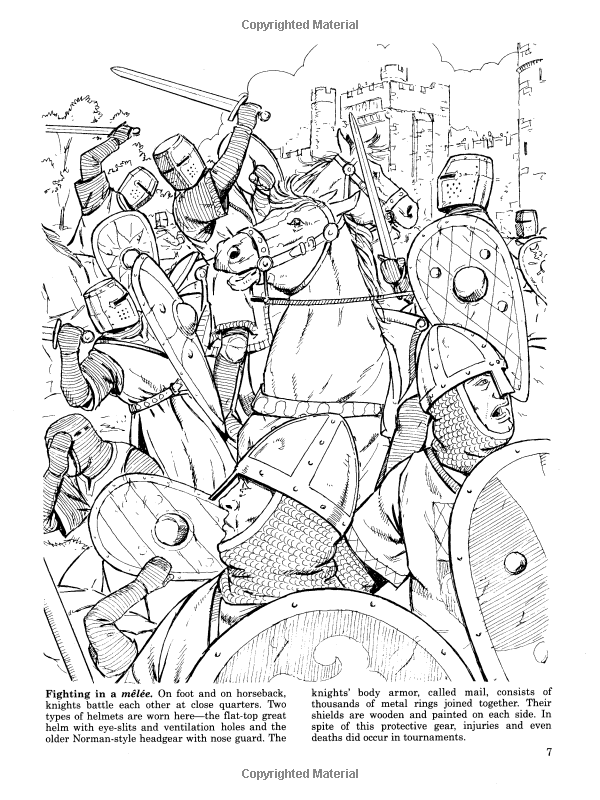 Medieval Jousts And Tournaments Dover History Coloring Book John Green Coloring Books 9780486401355 Amazon Coloring Books Historical Illustration Bee Art