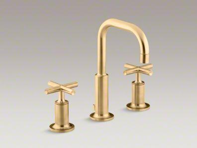 Kohler Purist Vibrant Moderne Brushed Gold Faucet Bathroom Sink