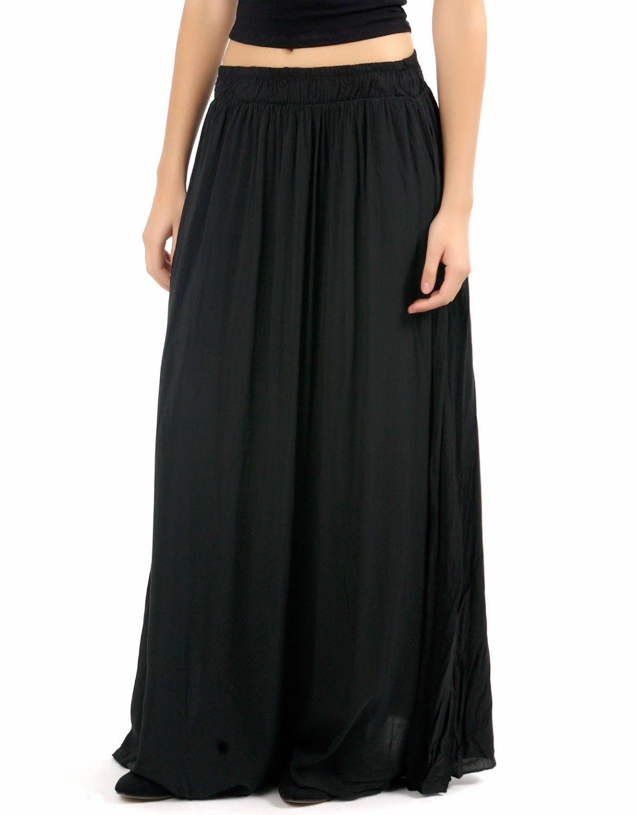 6be7a212c Modelos de faldas negras largas  faldas  largas  modelos  modelosdeFalda   negras