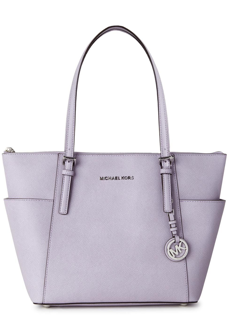 c91622094601 Womens Tote Bags Michael Kors Jet Set Lilac Leather Tote ( 310) ❤ liked on