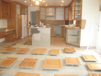 The Thrifty Home Kitchen Remodel Painting Cabinets Painting Cabinets Kitchen Remodel Painting Kitchen Cabinets