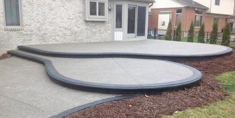 Exposed Aggregate Concrete, Exposed Aggregate Decorative Concrete Finish  Macomb   Potoroka Concrete And Construction,