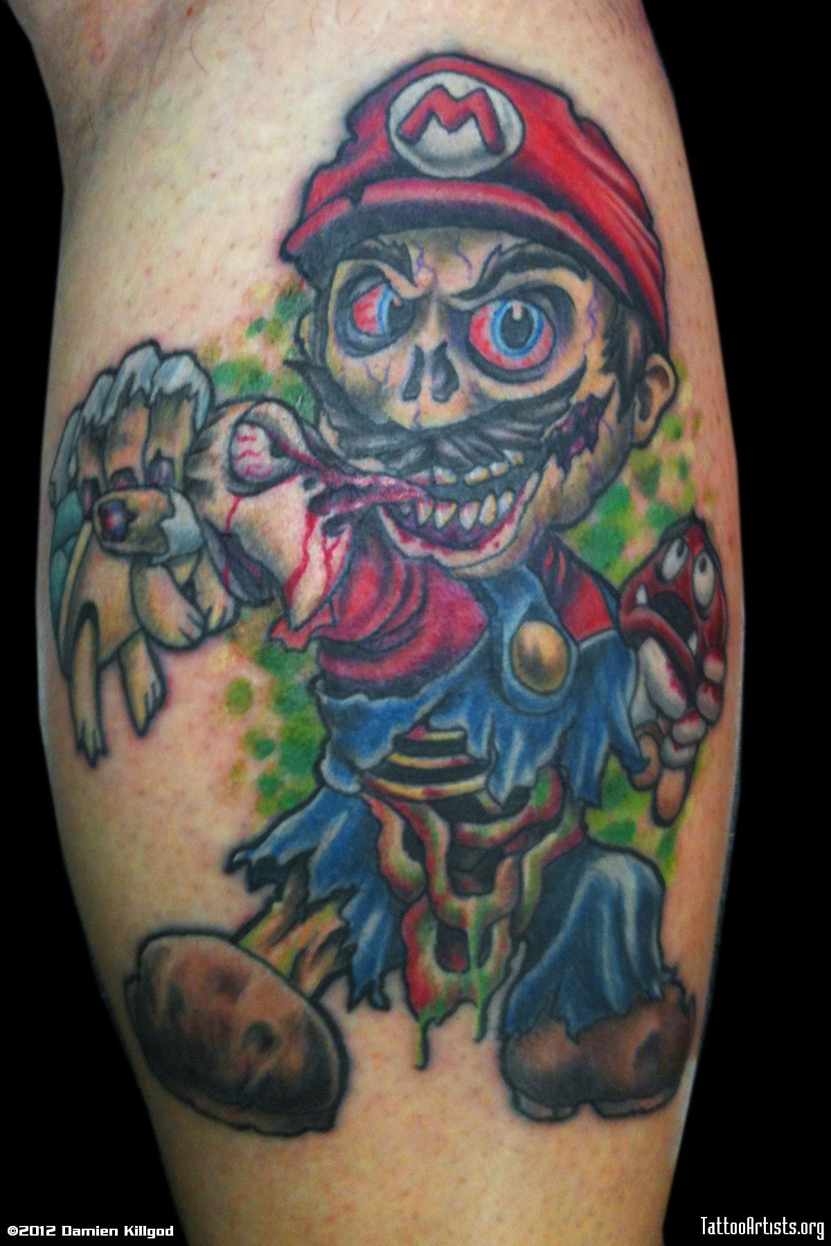 Image result for mario tattoos ink pinterest mario - Wicked 3d tattoos ...
