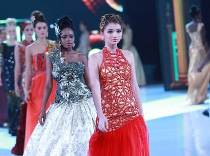 Miss Kazakhstan | 37 Over-The-Top Evening Gowns From The 2013 Miss World Fashion Show