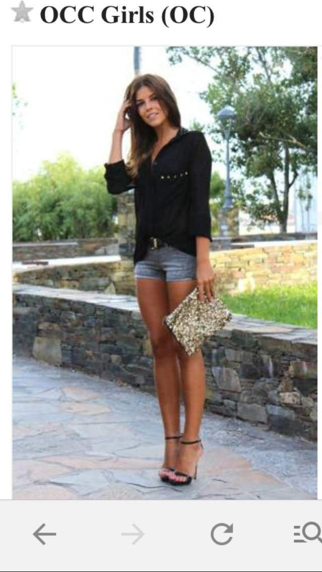 This a great sexy casual look