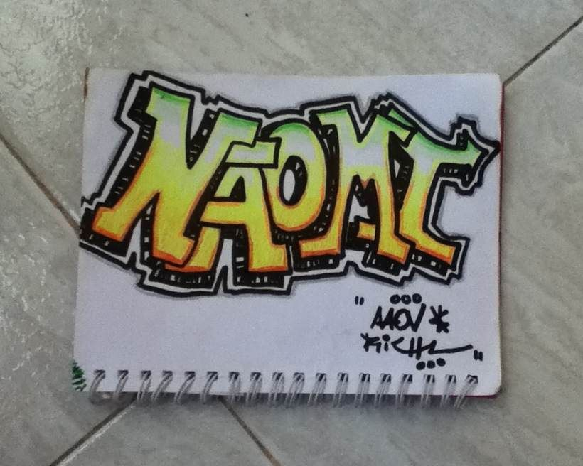 Naomi Colored Graffiti Try Out