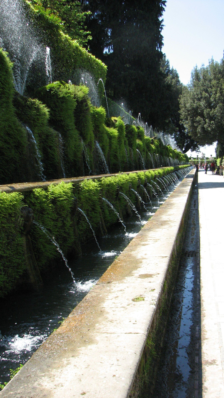 Villa D Este Tivoli Italy The One Hundred Fountains Avenue