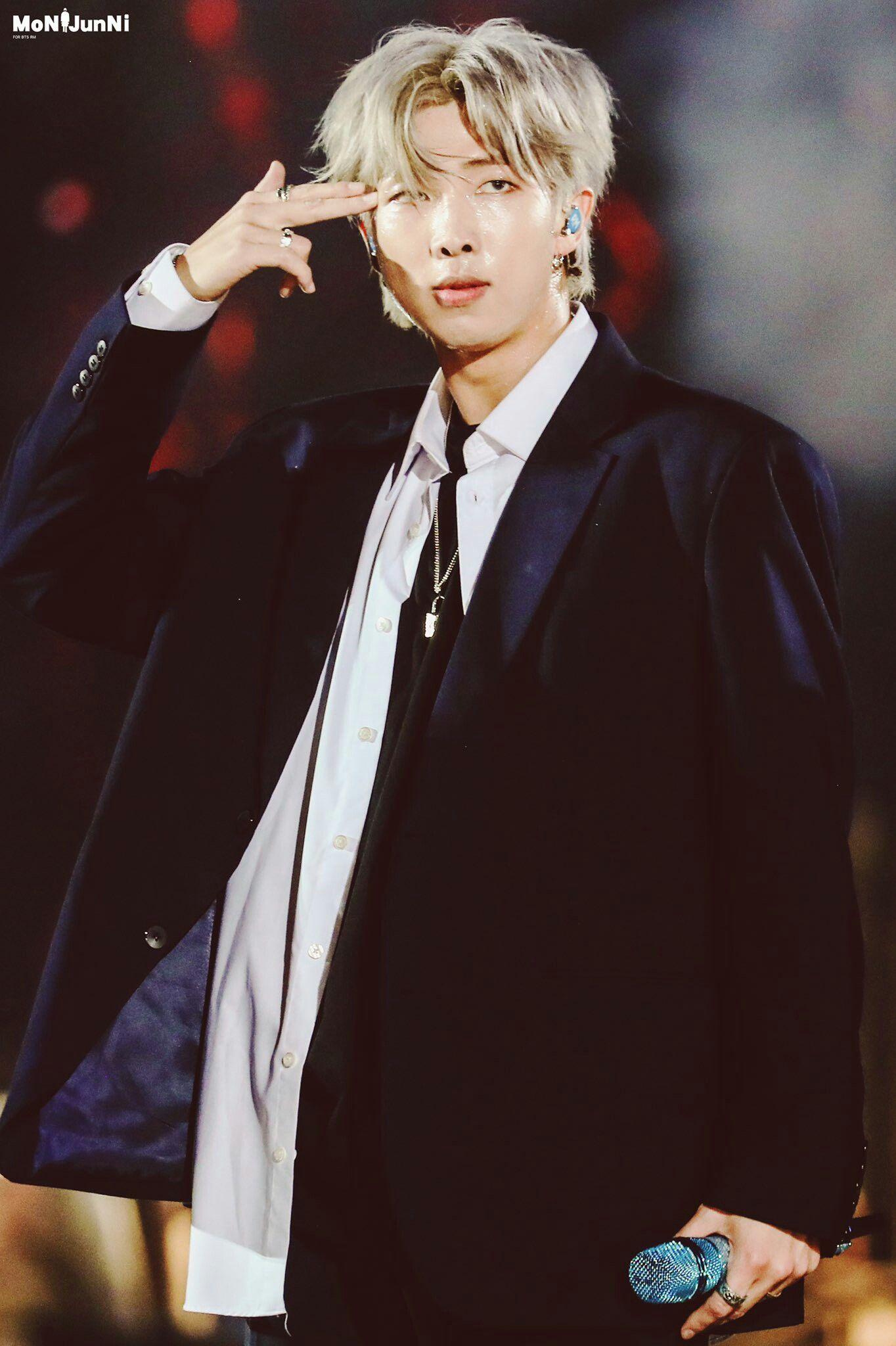 Namjoon With Long Hair Hits Different Namjoon Kim Namjoon Bts Rap Monster