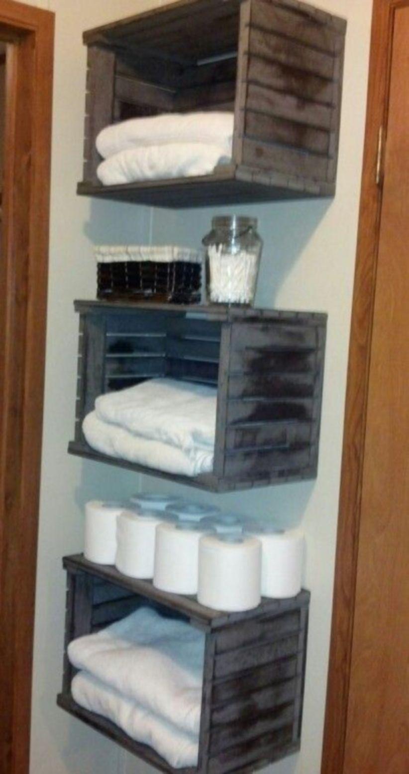 43 Creative DIY Hanging Towel Storage Designs Ideas For Bathroom #smallbathroomstorage
