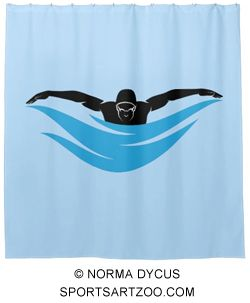 Male Butterfly Swimmer Shower Curtain Zazzle Com Swimmer Swimming Colorful Backgrounds