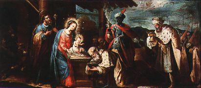 Cat‡logo de pinturas: Adoración de los Magos (Hacia 1768)