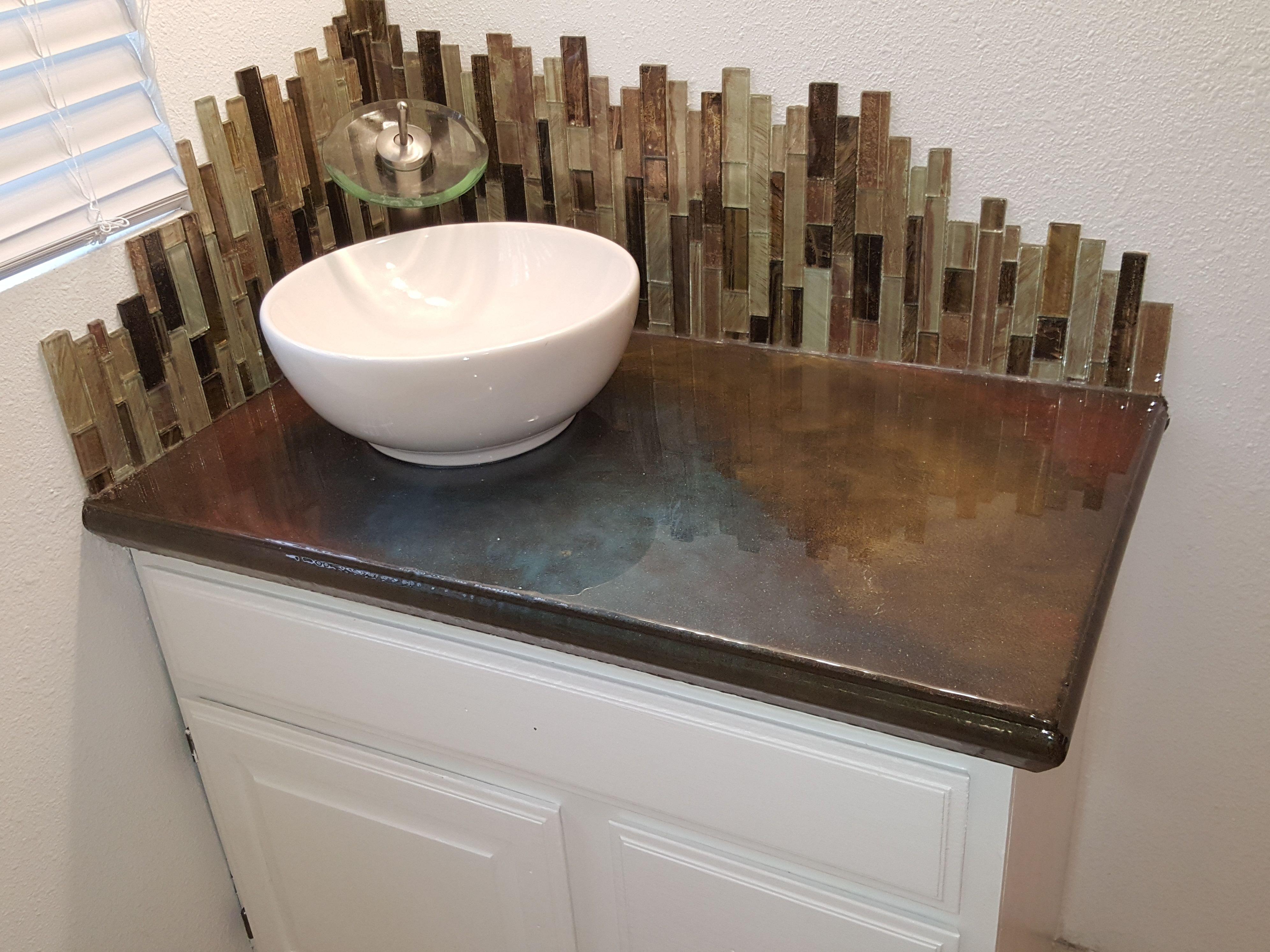 Concrete Countertop On Bathroom Concrete Countertop Forms