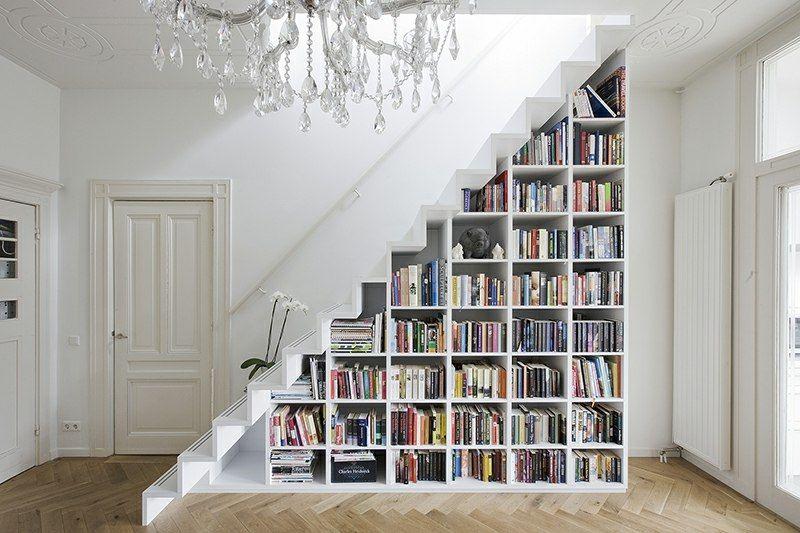 Bücherregal Unter Der Treppe Nutzt Den Freien Platz Im Flur Schlafzimmer  Ideen, Wohnzimmer, Treppen