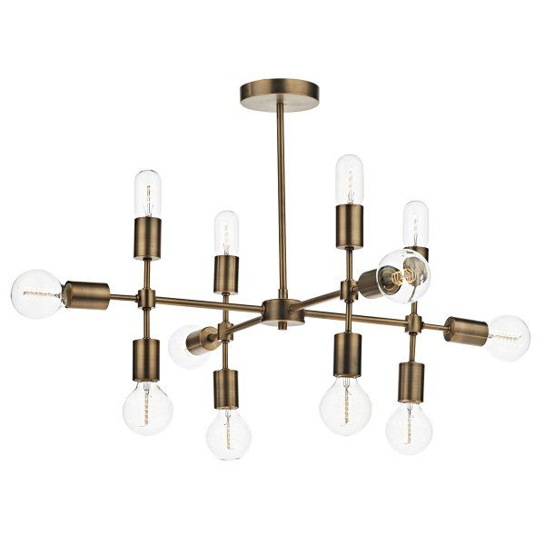 Dar lighting code 12 light ceiling pendant in old gold finish new dar lighting code 12 light ceiling pendant in old gold finish aloadofball Gallery