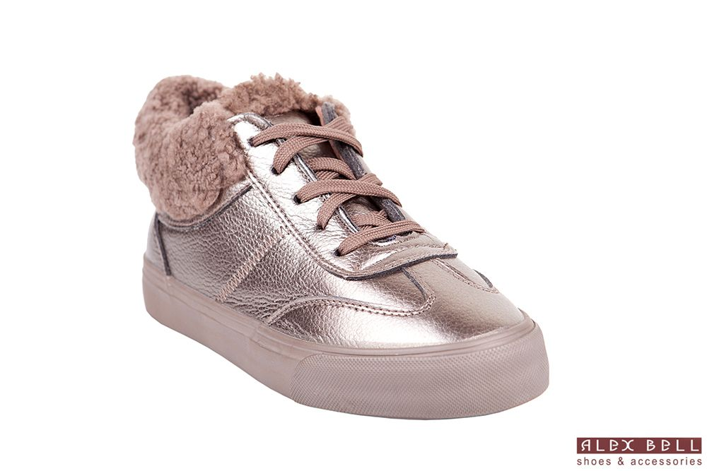 1d806608d50b99 ... Обувь Alex Bell пользователя Alex Bell. золотые кроссовки утеплённые  мех зима 2018