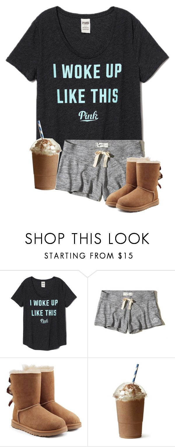 """""""true story 😪"""" by masynleighm ❤ liked on Polyvore featuring Hollister Co. and UGG"""