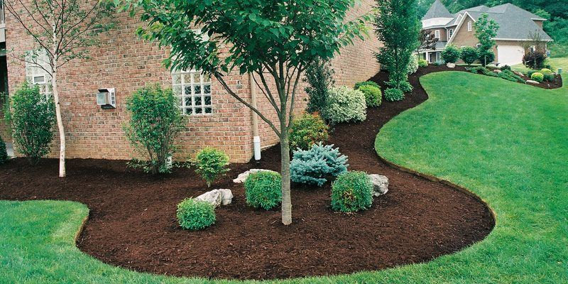 Mulch Spreading Lawn Maintenance Best Feeds Garden Centers Pittsburgh Pa Gib With Images Backyard Landscaping Designs Cheap Landscaping Ideas Backyard Landscaping