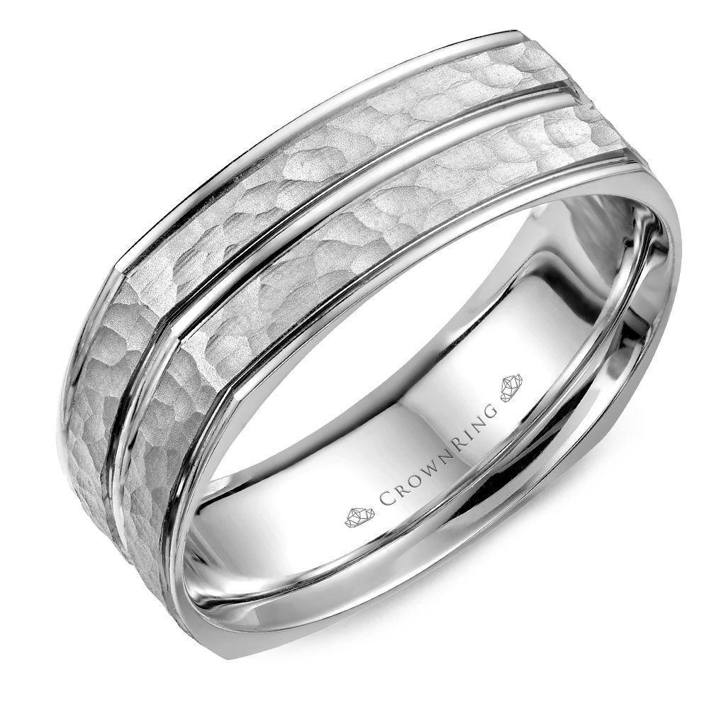 Crownring Carved Wedding Ring For Men Carved wedding