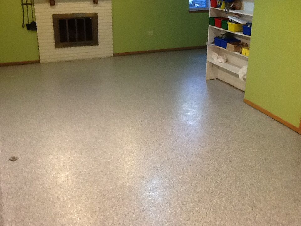 A Cheap And Long Lasting Change For Basement Floors Remove Old Carpet Tile And Replace With A Polyurea Floor Coating Floor Coating Basement Flooring Flooring