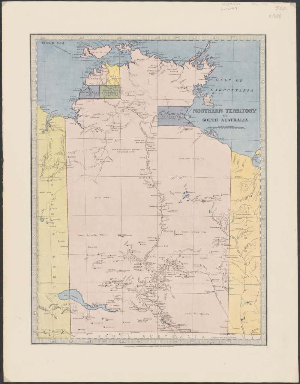 Map Of South Australia And Northern Territory.Northern Territory Of South Australia 1886 Map Australia Maps