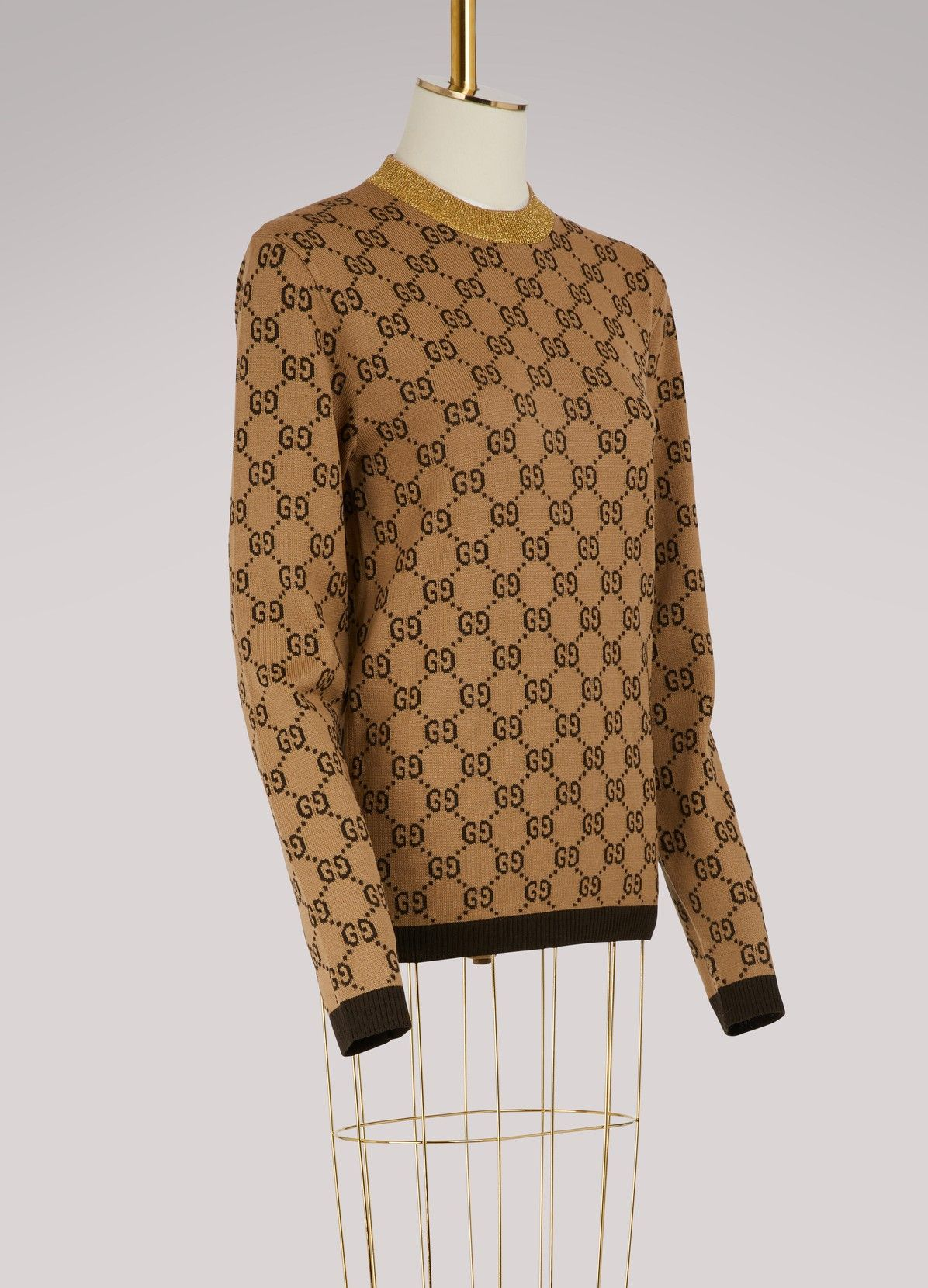 a56b0471949 GUCCI GG jacquard wool sweater | Gucci in 2019 | Wool sweaters ...