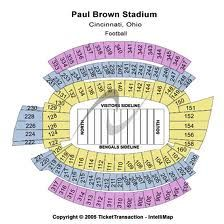 Paul Brown Stadium Seating Chart Call Us Now 877 870 3668 For Bengals Tickets