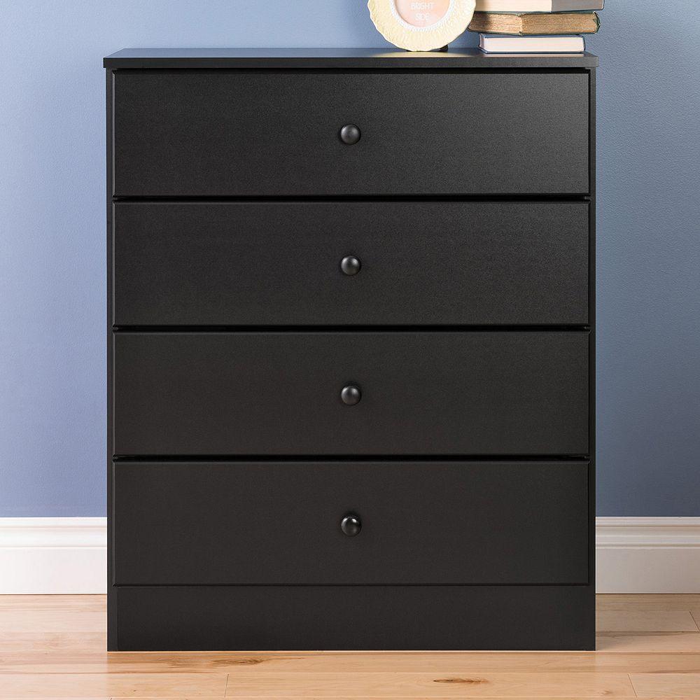 Best Prepac Astrid 4 Drawer Dresser Black 4 Drawer Dresser 400 x 300