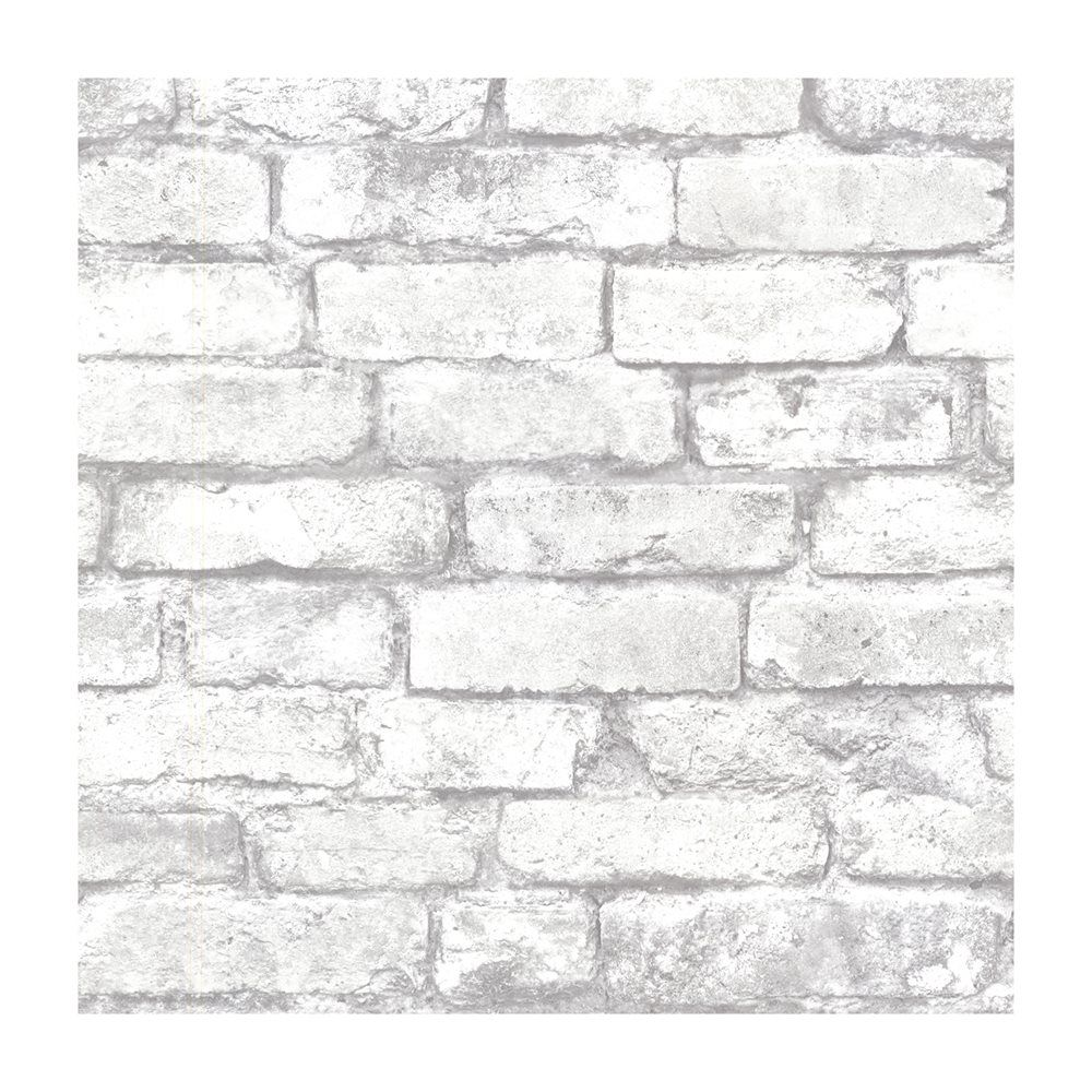 Provincial Wallcoverings 2604 21261 Brickwork Light Grey Exposed Brick Texture Wallpaper Belye Kirpichi Iskusstvennyj Kirpich Kirpichnyj Dizajn